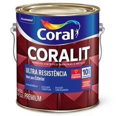 Tinta Esmalte Sintético Premium Brilhante Coralit Tradicional Vermelho Goya 3,6 Litros - Coral
