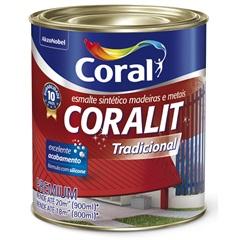 Tinta Esmalte Sintético Premium Brilhante Coralit Tradicional Vermelho Goya 900ml - Coral
