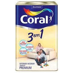 Tinta Látex 3 em 1 Branco Gelo 18 Litros - Coral
