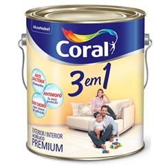 Tinta Látex 3 em 1 Branco Gelo 3,6 Litros - Coral