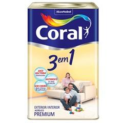 Tinta Látex 3 em 1 Palha 18 Litros - Coral