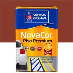 Tinta Novacor Acrílica para Piso Liso Vermelho 18 Litros - Sherwin Williams