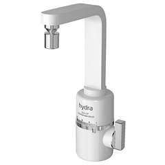 Torneira para Cozinha de Parede Elétrica Slim 4t 5500w 220v Branca - Hydra
