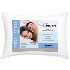 Travesseiro em Percal com 180 Fios Max Confort 50x70cm Branco - Allfibra