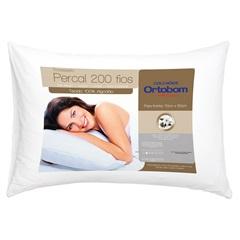Travesseiro em Percal com 200 Fios 50x70cm Branco - Allfibra