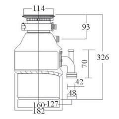 Triturador de Alimentos para Pia 55hp 110v Vermelho E Preto