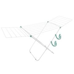 Varal de Chão em Aço com Abas Napoles Branco - Secalux