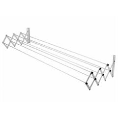 Varal de Parede Sanfonado em Aço 100cm Branco - Maxeb