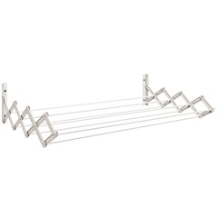 Varal de Parede Sanfonado em Aço 100x42cm Branco - Secalux