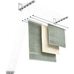 Varal de Teto em Aço Inovar 120cm Branco - Maxeb