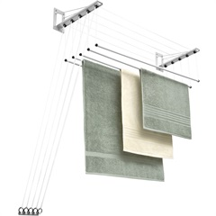 Varal de Teto em Aço Inovar 122x33cm Branco - Maxeb