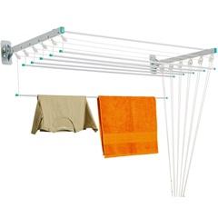 Varal Prático em Aço para Teto/Parede 120,5x56cm Branco - Secalux