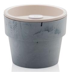 Vaso Autoirrigável 10x12,5cm Concreto Fechado - Ou