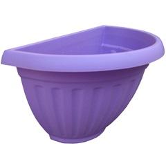 Vaso de Parede com Prato Denise 30cm Violeta - West Garden