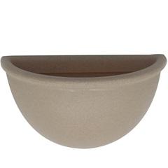 Vaso de Parede em Polietileno Liso 34x20cm Areia - Vasart