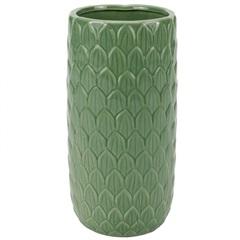 Vaso Decorativo em Cerâmica 10x21cm Verde - Casanova