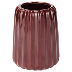 Vaso Decorativo em Cerâmica 11x14cm Vermelho