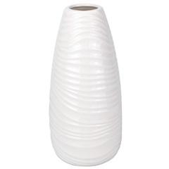 Vaso Decorativo em Porcelana 12x25cm Branco