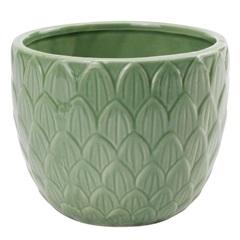 Vaso em Cerâmica 12x10cm Verde