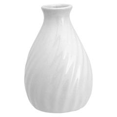 Vaso em Cerâmica Home&Co Alamos 10,5x6,5cm Branco - GS
