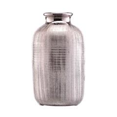 Vaso em Cerâmica Tube Prata - Casa Etna