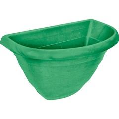 Vaso em Plástico Porto com Prato 30 Cm Verde Pastel - West Garden