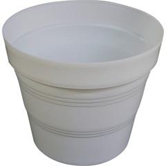 Vaso em Plástico Veneza 15x15 Cm Branco - West Garden