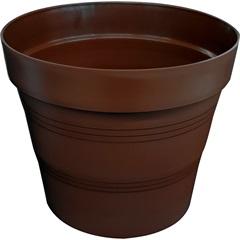 Vaso em Plástico Veneza 15x15 Cm Café - West Garden