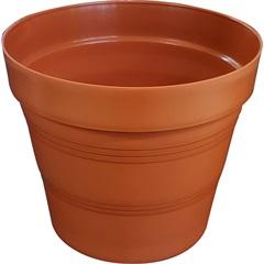 Vaso em Plástico Veneza 15x15 Cm Terracota - West Garden