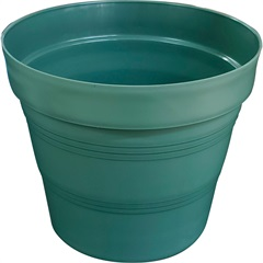 Vaso em Plástico Veneza 15x15 Cm Verde Militar - West Garden