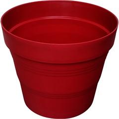 Vaso em Plástico Veneza 15x15 Cm Vermelho Escuro - West Garden