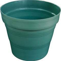 Vaso em Plástico Veneza 25x20 Cm Verde Militar - West Garden