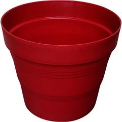 Vaso em Plástico Veneza 25x20 Cm Vermelho Escuro - West Garden