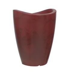 Vaso em Polietileno Cone Copacabana 25x32cm Antique Vermelho - Vasart