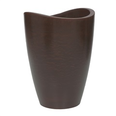 Vaso em Polietileno Cone Copacabana 30x40cm Rusty - Vasart