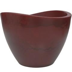 Vaso em Polietileno Cone Copacabana 65x45cm Antique Vermelho - Vasart