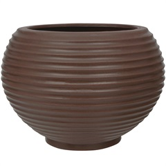 Vaso em Polietileno Oval Bromélia 32cm Rusty - Vasart