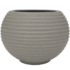 Vaso em Polietileno Oval Bromélia 36cm Pedra - Vasart