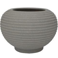 Vaso em Polietileno Oval Bromélia 42cm Pedra - Vasart