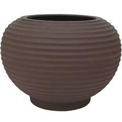 Vaso em Polietileno Oval Bromélia 42cm Rusty - Vasart