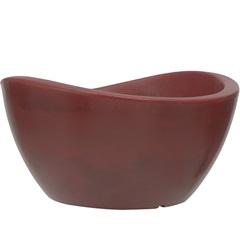 Vaso em Polietileno Oval Copacabana 30x16cm Antique Vermelho - Vasart