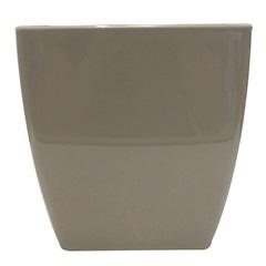 Vaso em Polipropileno Trapézio Siena 13,5x14cm Areia Pastel - Vasart