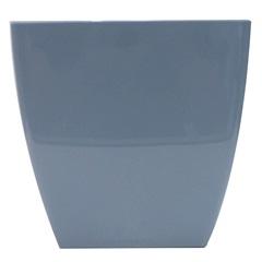 Vaso em Polipropileno Trapézio Siena 13,5x14cm Azul Pastel - Vasart