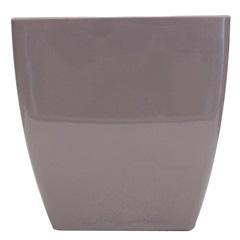 Vaso em Polipropileno Trapézio Siena 13,5x14cm Violeta Pastel - Vasart