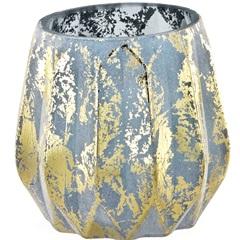 Vaso em Vidro 10x11cm Azul - Mart