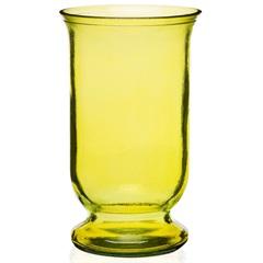 Vaso em Vidro Amarelo Flat 25cm - Casa Etna
