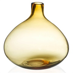 Vaso em Vidro Fortune 21cm Ambar - Casa Etna