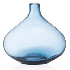 Vaso em Vidro Fortune 21cm Azul - Casa Etna