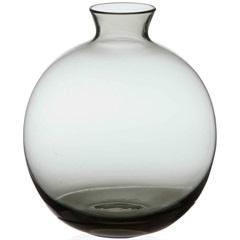 Vaso em Vidro Malaga Cinza 13cm - Casa Etna