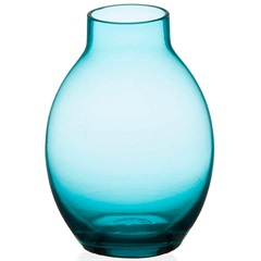 Vaso em Vidro Milano Azul Turquesa 8cm - Casa Etna